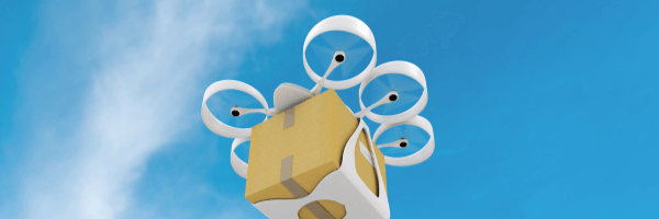 Drones used in the delivery