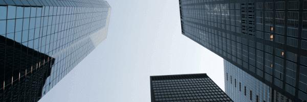 global market, big, modern, buildings, skyscrapers