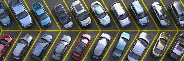 The car parks with text recognition and machine learning technology