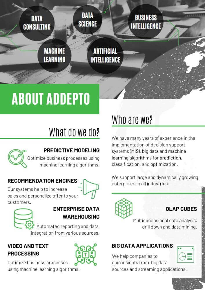 Booklet Addepto Page 2 Machine Learning and Big Data Company