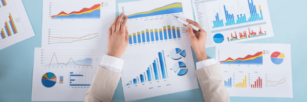 Business intelligence for small companies, graphs, analysis