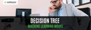 Decision Tree Machine Learning Model, man, office
