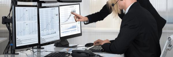 analytics, man, woman
