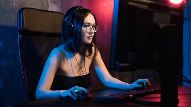 woman, gaming