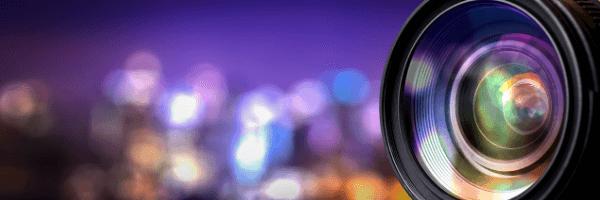 camera, purple, lights