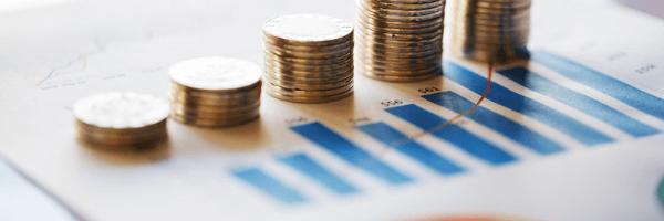 financial industry, money, chart