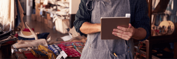 MANAGE STORES with tablet
