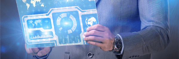 Difference between data analytics and data mining, man with charts