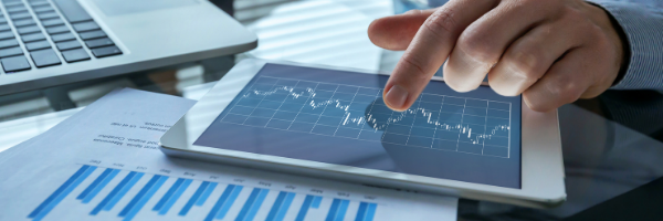 business intelligence, charts, tablet