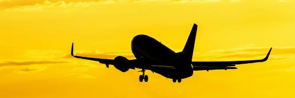 Boeing, yellow sky, aviation
