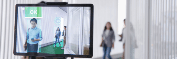А tablet that scans the movement of people